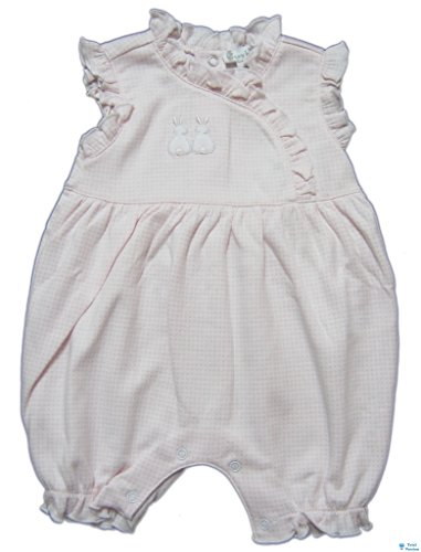 (Kissy Kissy Baby-Girls Infant Cottontail Duo Sleeveless Short Playsuit-White with Pink-0-3 Months)