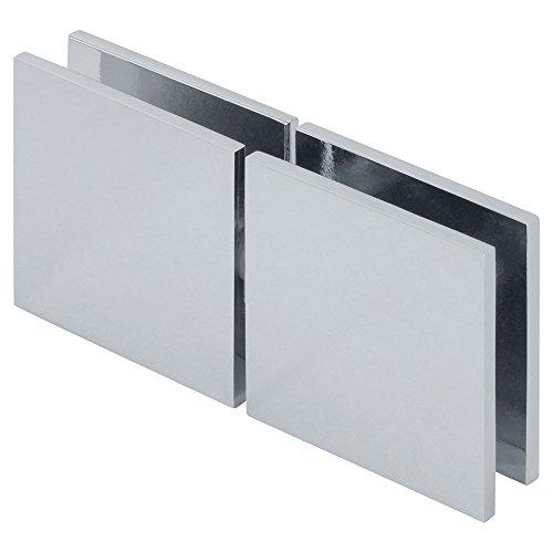 MODEXO C1107-1000CHR Square 180° Glass-to-Glass Movable Transom Clamp, Chrome