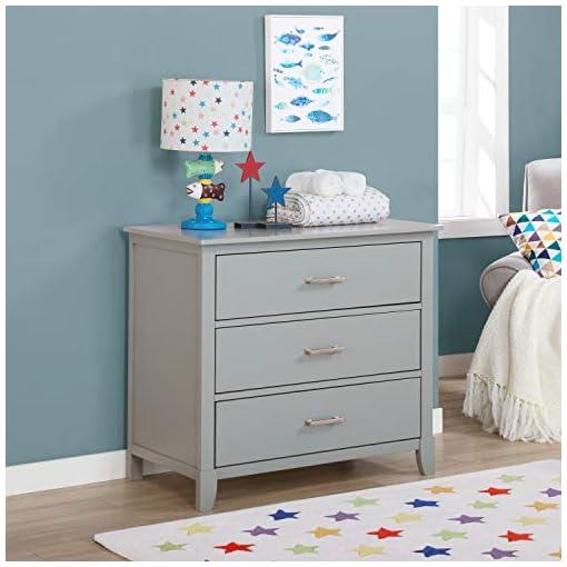 Bedroom Dream on Me Universal 3 Drawers Chest   Kids Bedroom Dresser   Three Drawers Dresser Mid Century Modern, Silver Grey… modern dressers