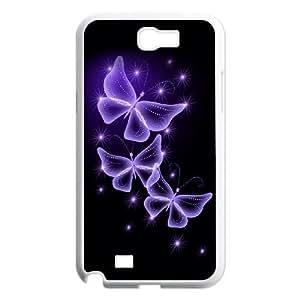 Samsung Galaxy Note 2 N7100 Phone Case Colourful Butterflies H8U7788587