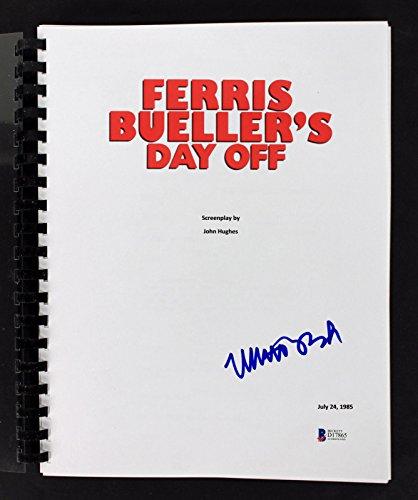 Matthew Broderick Signed Ferris Bueller's Day Off Movie Script BAS #D17865 ()