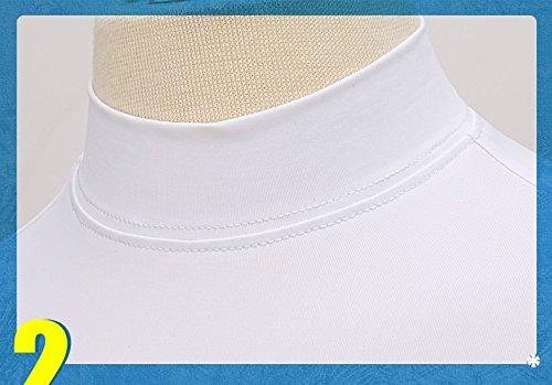 Kayiyasu インナーシャツ キッズ ゴルフウェア ジュニア ゴルフシャツ 女の子 UVカット 薄手 夏物用 薄物 長袖 下着 日焼け止め 021-xsty-yf-137(XL(150cm) ホワイト)
