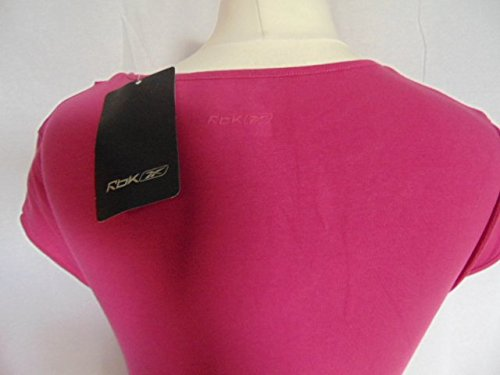 ladies-womens Reebok Pink Summer Übung – Dance Top Freizeit Größe 12 BNWT