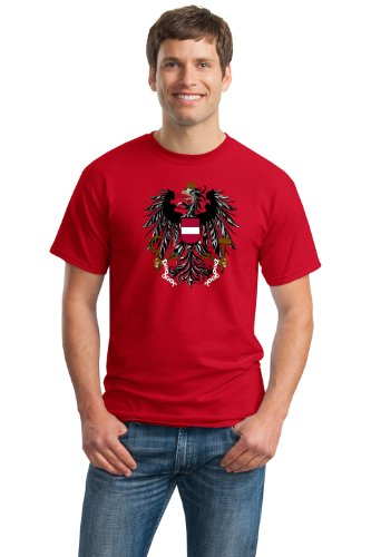 AUSTRIAN FLAG Unisex T-shirt / Austria, Vienna, Coat of Arms, Crest Tee