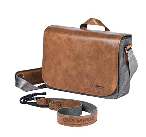 Olympus OM-D Messenger Leather Bag Incl. Strap, E0414738 (Incl. Strap) by Olympus