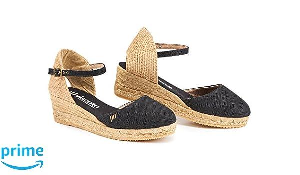 VISCATA Barcelona CanetLinen - Alpargatas Mujer, Color Negro, Talla 35 M EU: Amazon.es: Zapatos y complementos