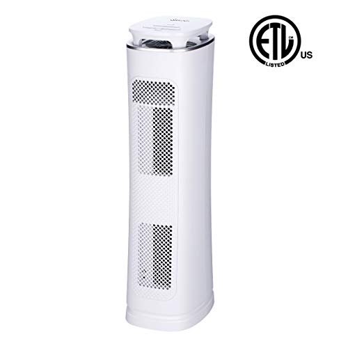 Sancusto Air Purifier, 3-in-1 True HEPA Filter Air Cleaner with Card Rated 230, 3 Stages Filtration with Mosquito Trap, UV Light and Timer for Home, Room and Office, ETL Certified-White