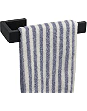TocTen Hand Towel Holder/Towel Ring - Thicken SUS304 Stainless Steel Bathroom Hand Towel Hanger, 9 Inch Heavy Duty Wall Mounted Towel Rack, Square Hand Towel Bar for Bathroom Hardware