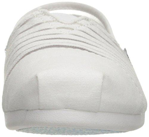 BOBS von Skechers Frauen Plüsch Slip-On Flat Weiße Adorbs