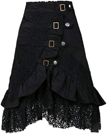Falda gótica de Punk Rock para Mujer, Falda de Cintura Alta de ...