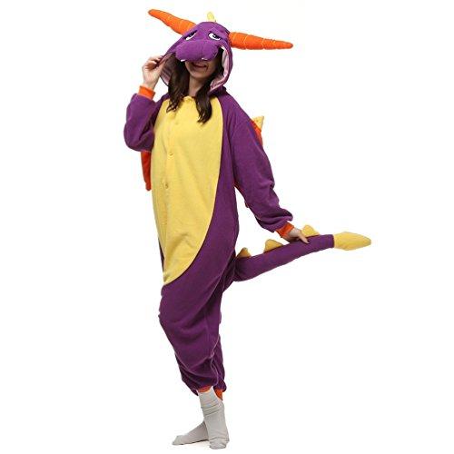 NINI.LADY Unisex Sleepsuit Pajamas Cosplay Costume Adult Sleepwear Jade Dragon L