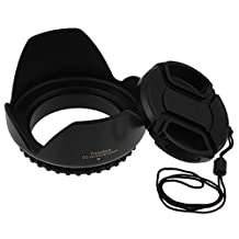 Fotodiox Lens Hood, Type 2 Flower Lens Hood with Front Filter Thread 58mm for Canon Rebel t1i, t2i, t3, t3i, t4i, t5i, with 18-55mm, 55-200mm EF-S Kit Lens, Replaces EW-60c
