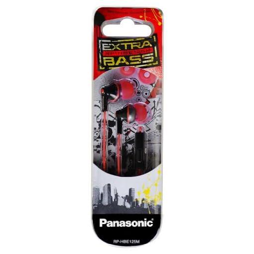 Panasonic RPHBE125M Extra Bass Earphones Wmic Universally