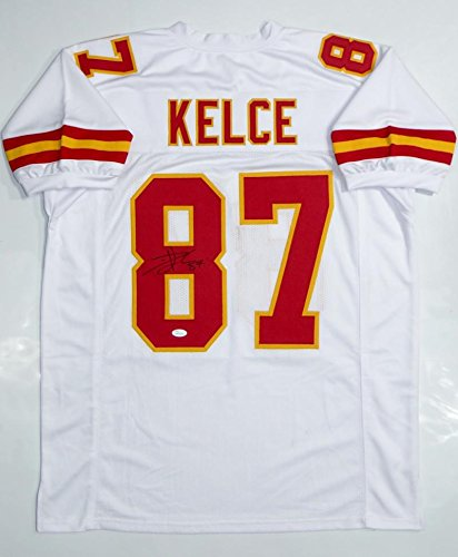 ee1f23d3d Autographed Signed Travis Kelce Kansas City Red Football Jersey JSA COA