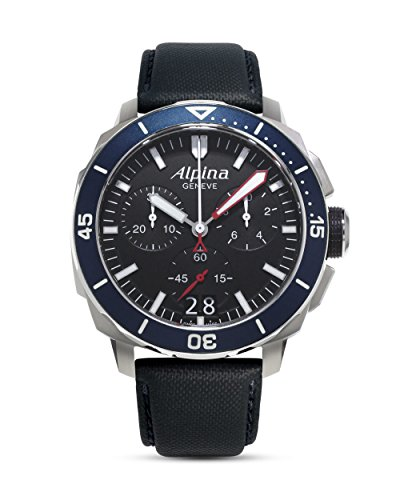 Alpina Seastrong Diver 300 Black Dial Silicone Strap Men's Watch AL-372LBN4V6