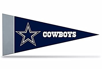 87e26a01 Zipperstop 8 Pack Officially Licensed Dallas Cowboys NFL Mini Pennants, 4