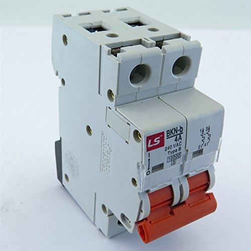 BKN-b-2P-B4A LS MINIATURE DIN RAIL MOUNT. 2 Pole UL 1077 CIRCUIT BREAKER B Curve, 4A 120/240V