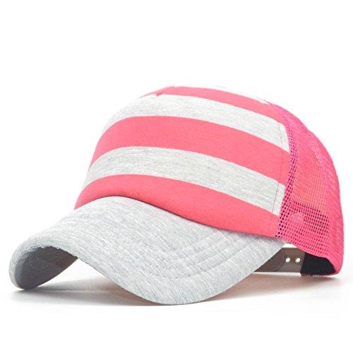 Mznwpm Summer Unisexe Des Casquettes De Base - Ball De Couleurs Hip - Hop Hat Bonnet Rayé Chapeaux