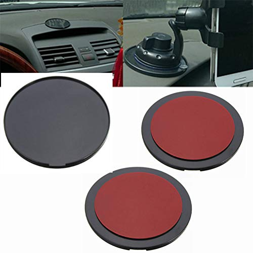 MGQFY 3 Pack Adhesive Dashboard Pad Mounting Disk for GPS,GPS Adhesive Car Dash Dashboard Sticky Sticker Pad Suction Cup Mount Adhesive DVR Bracket Pad for Boat/Car Dashboard Smartphone ()
