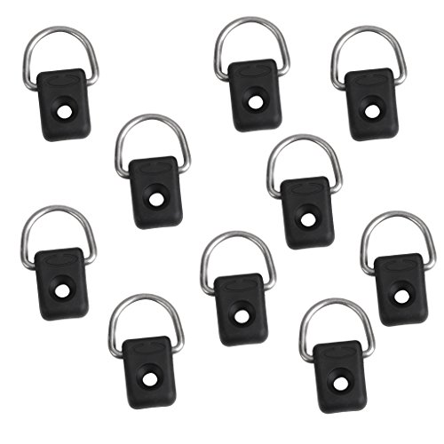 10 Pieces Kayak D Ring Outfitting Deck Fitting Kit - Used to Grasp Paddles, Rods, Nets and Other Items