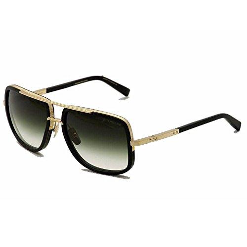 Eyeglass Frames Virginia Beach : Dita Mach One Unisex Sunglasses 18K Gold w/Matte Black DRX ...