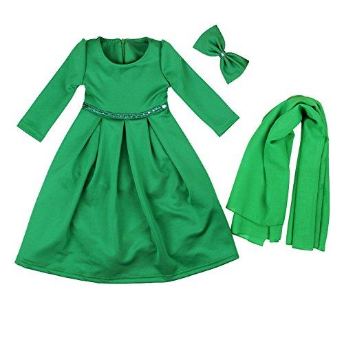 EITC Islamic Muslim Abaya with Hijab & Headwear for Kid Girls 7-13 Years by EITC