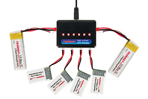 Tenergy T453 6-Port LiPo Battery Charger for 3.7V (1S) Lithium Ion, Lithium Polymer RC Quadcopter Batteries