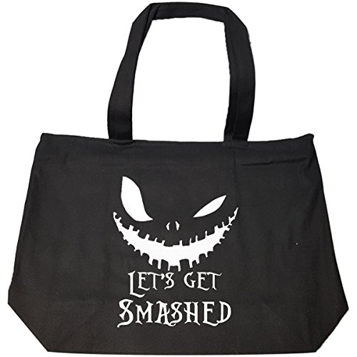Lets Get Smashed Pumpkin Halloween Party Smashing Pumpkins - Tote Bag With -