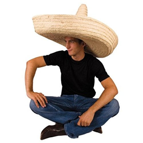 Giant-Jumbo-Sombrero-Hat-Zapata-Straw-Spanish-Mexican-Adult-Costume-Accessory