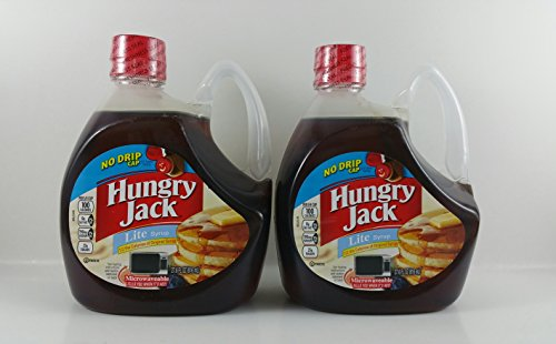 Hungry Jack Microwaveable Bottle Lite Pancake Syrup 27.6 Oz (Pack of 2)