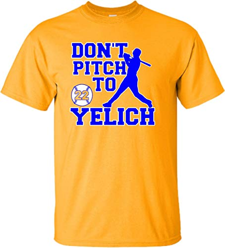 YM 10-12 Gold Youth Don't Pitch to Yelich T-Shirt