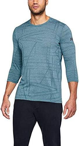 Under Armour Men Threadborne 3//4 Sleeve T-Shirt