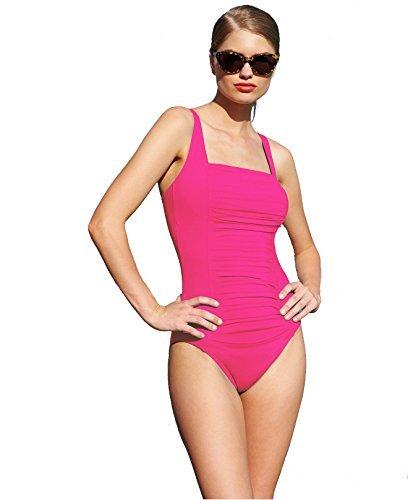 Calvin Klein One Piece Swimwear - Calvin Klein Ruched-Panel One-Piece Swimsuit Rose (8)