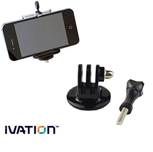 IVATION Tripod Mount Kit With a GoPro Mount & Smartphone Mount for Joby GorillaPod Original, SLR-Zoom, SLR, Micro Stand, GripTight, Focus, Magnetic, GorillaPod Video Mini Flexible Tripods