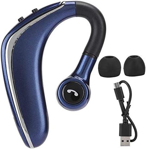 Enkele ooroortelefoon draadloze draaibare oorhaak Bluetoothhoofdtelefoon met batterijdisplay oproep muziek meerpuntsverbinding functie zwart