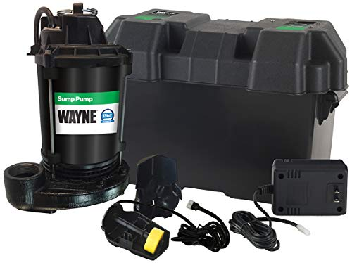 Wayne ESP25 Upgraded 12-Volt Battery Backup System, Black (Best Water Powered Backup Sump Pump)