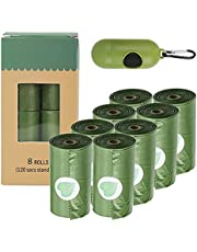 MILETONYA Eco-Friendly Dog Poop Bags,8 Rolls/120 Bags Extra Thick and Strong Poop Bags for Dogs, Lavender-scented Biodegradable Dog Waste Bags with a Dispenser