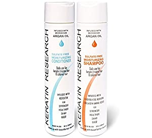 9. Natural Argan Oil Infused Sulfate-Free Shampoo and Conditioner