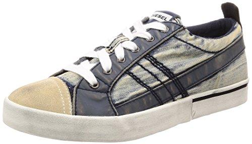 - Diesel Men's D-Velows Low LACE Vintage-Sneakers, Midnight Navy, 8.5 M US