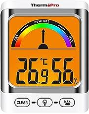 ThermoPro TP52 Digitale binnen-hygrometer, temperatuur- en luchtvochtigheidsmeter, professionele thermo-hygrometer voor thuis, met comfort-weergave