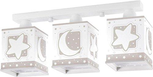 Fesselnd LED Lampe Kinderzimmer Decke Deckenleuchte Sterne Mond 63233e 3 Stufen  Dimmbar 806 Lumen Mädchen U0026 Jungen