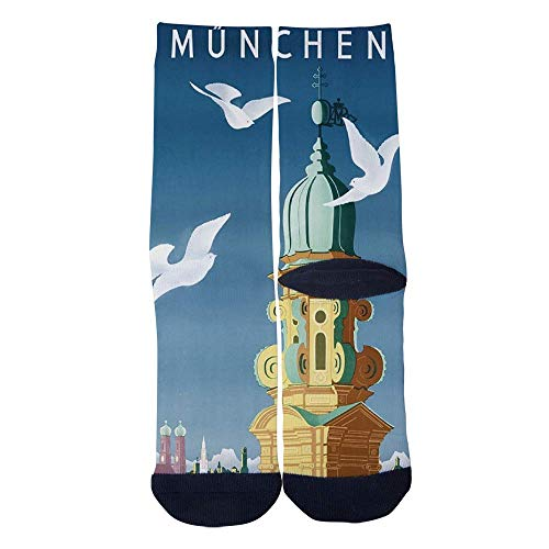 Eletina lee Eletina kgirt Men S Women S Custom Travel Poster Munich Germany Socks 3D Print Novel Creative Casual Crew Socks]()