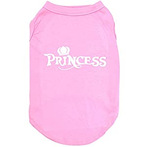 "Mihachi Dog Shirt - Princess T Shirts,Back Length 10"",Cotton Summer Clothes Vest,Apparel Costumes for Pets"
