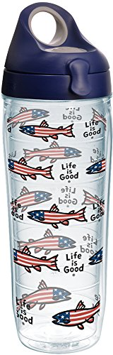 Tervis 1268385 Life Is Good-Patriotic Fish Insulated Tumbler