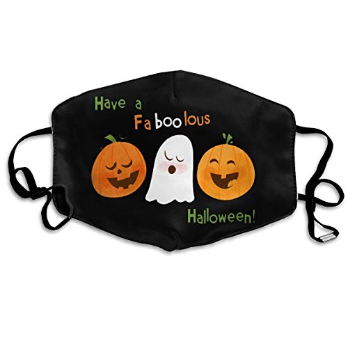Have A Faboolous Halloween Unisex Anti-Dust Mouth Mask Face Mask Anti Bacterial Washable Reusable Masks Warm Windproof Mask