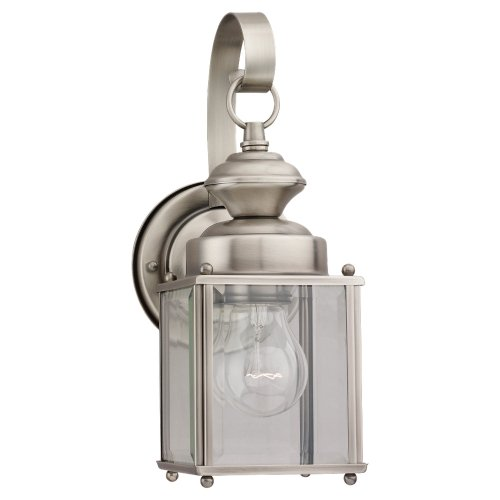 Sea Gull Lighting 8456-965 Jamestowne Outdoor Fixture, One-Light, Antique Brushed Nickel Finish For Sale