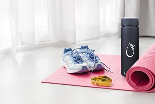 Last Drop Stylish Water Bottle---the best vacuum insulated water bottle coffee mug made from stainless steel16oz double wall matte color leak-resistant keep cold for 24hrs and hot for 12hrs by LAST DROP (Image #3)