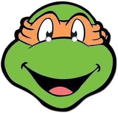 Michelangelo Teenage Mutant Ninja Turtles Face Mask Amazon Co Uk Clothing