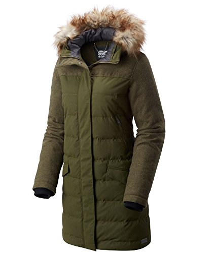 SOREL Tivoli Long Down Winter Jacket Nori Womens L