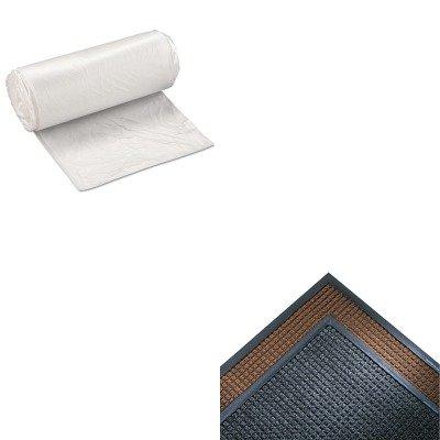 Super Soaker Indoor Wiper (KITCWNSSR310CHIBSS243308N - Value Kit - Crown Mats SS310CHA Super-Soaker Indoor Wiper/Scraper Mat, 36 x 120, Charcoal (CWNSSR310CH) and IBS S243308N High Density Commercial Coreless Roll Can Liners, Natural (IBSS243308N))